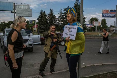 Iryna Dovhan 25.08.2014. Donetsk
