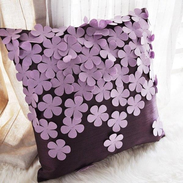 Как своими руками украсить подушку