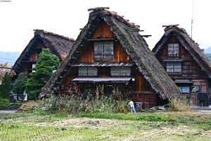 Traditional houses of Shirakawa-gō in Autumn, Gifu, Japan