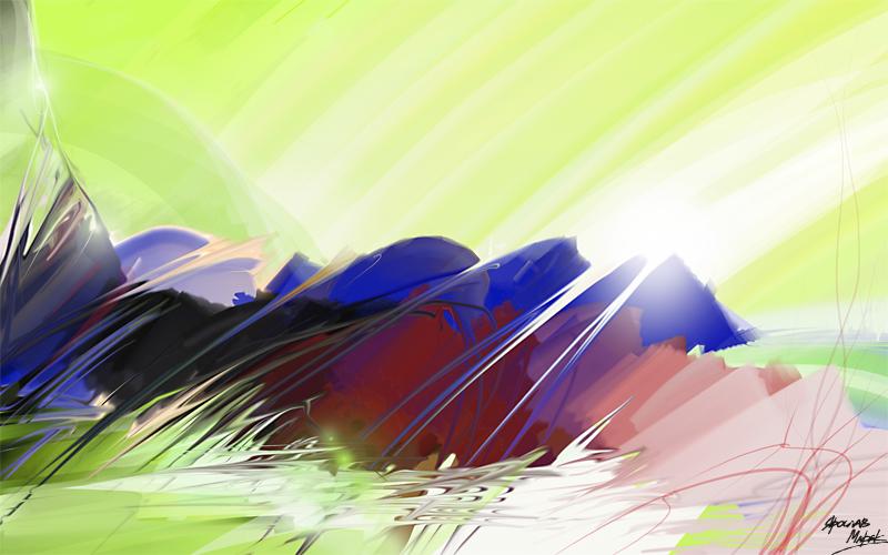 Зеленый мир- зеркальные холмы