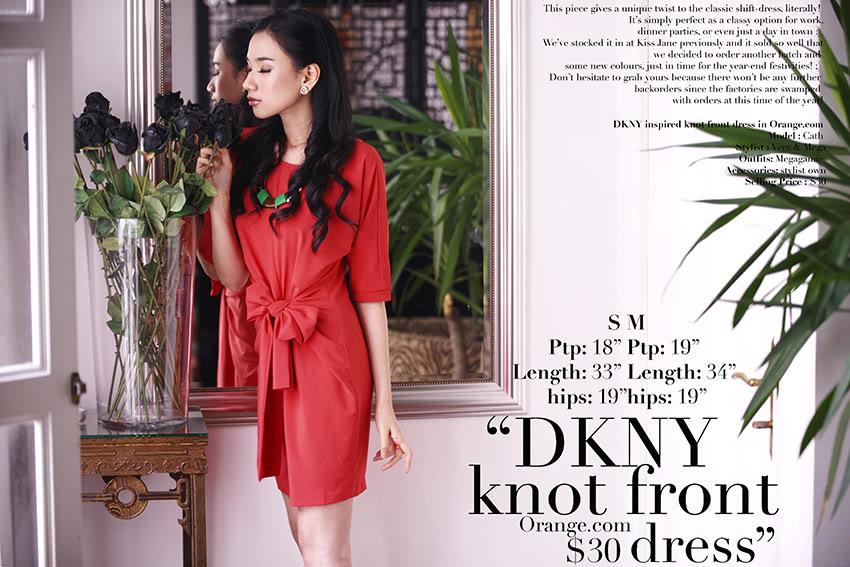 MGG DKNY Knot Front Dress