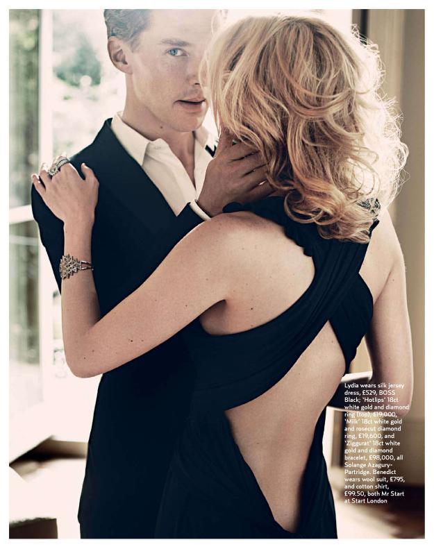 Benedict Cumberbatch in the December 2010 issue of Marie Claire UK