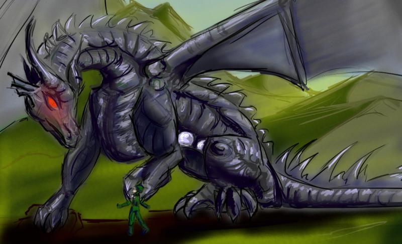 LJ Art - Ignus Draconum Mechanus Metal Dragon