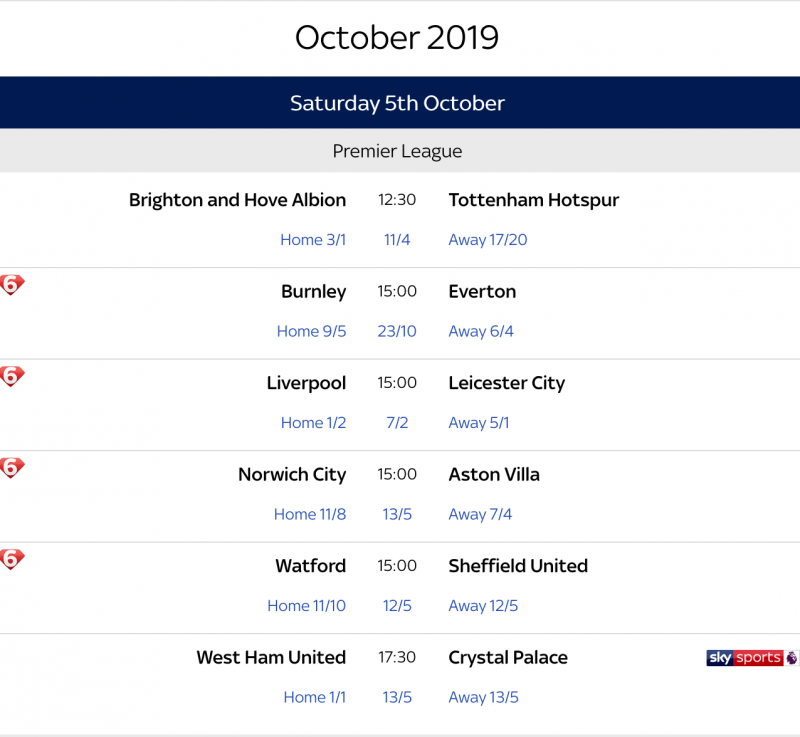 EPL matches