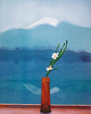 David-Hockney-Mount-Fuji-and-Flowers-1972-6483