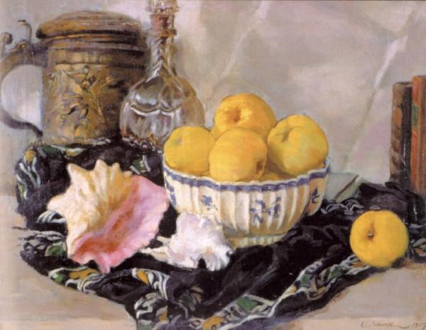 Яблоки и раковина - Е.Е. Лансере