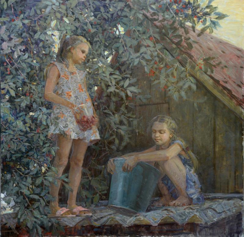 """Ольга Анатольевна Менжилий (1980г.р.), """"Подружки"""", 2016г."""