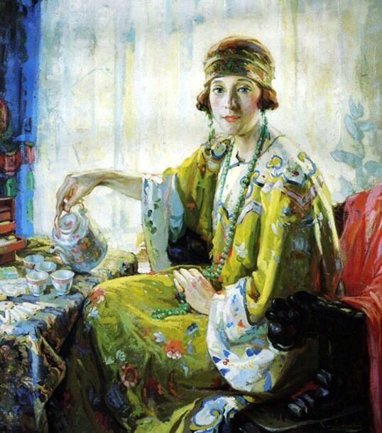 Mrs Elwood-Riggs 5 O'Clock by Christian von Schneidau (1883-1976)