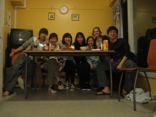 L-R: Cho from South Korea, Hedy from HK, Loching from HK, Sae-Won from South Korea, I, Ema from Lithuania, Hua from China
