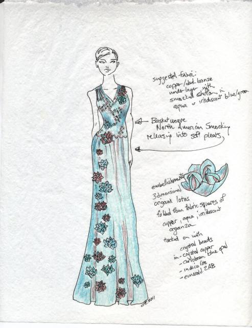 Verdigris Red Carpet Contest Dress