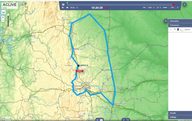 Сегодня на карте Эдуард достиг Невьянска. Он прошёл ещё очень мало!