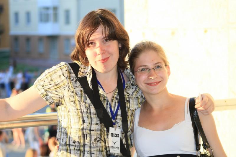 """Я и Таня Петрова, 2010 год. Я уже работаю в """"Нашей городской газете"""", а Таня сотрудничает с """"Нейвой"""""""