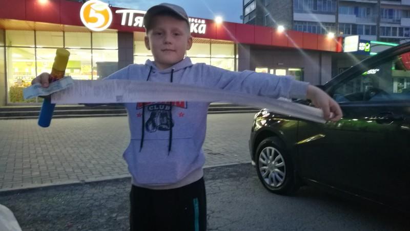 Это Серёжа, Олин сын, мы с ним подружились с первой встречи.