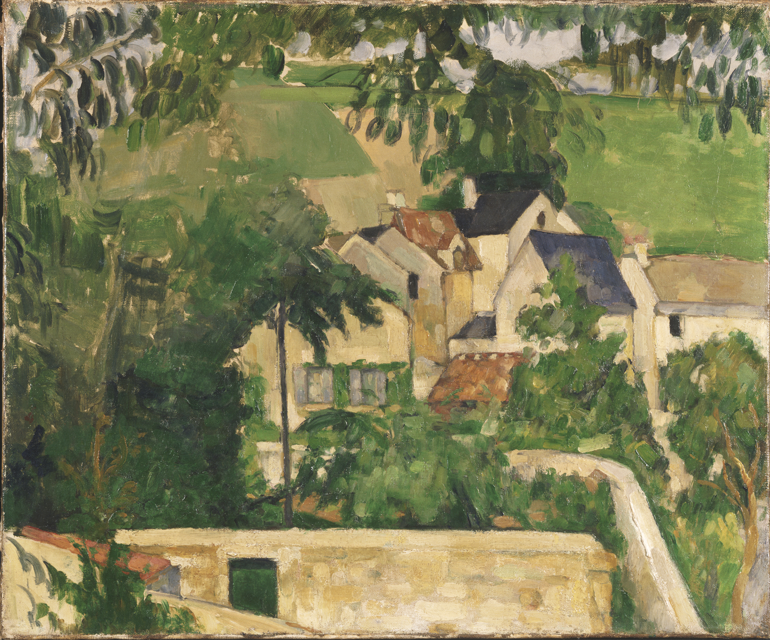 Cezanne Landscape, Auvers 1873 Philadelphia Museum of Art