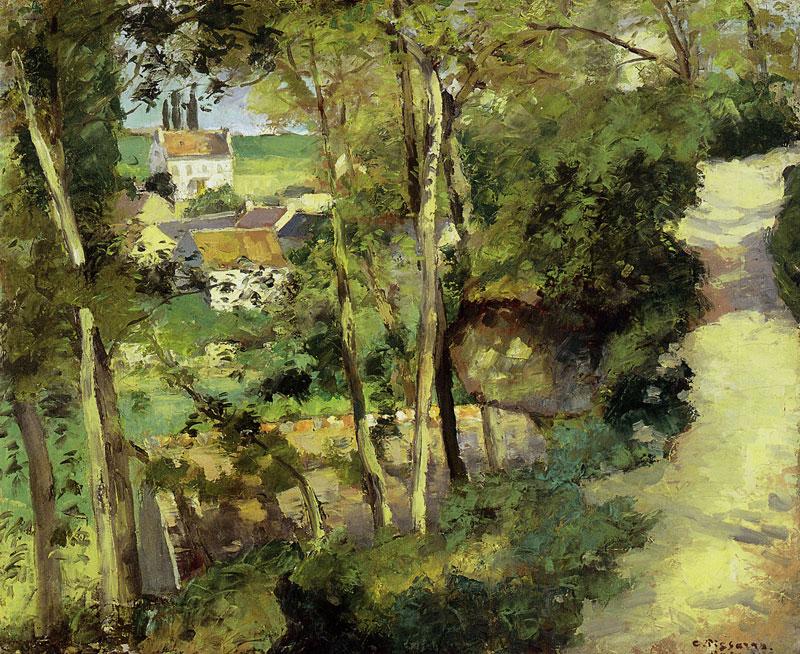 Pissarro_The Climbing Path, l'Hermitage, Pontoise 1875