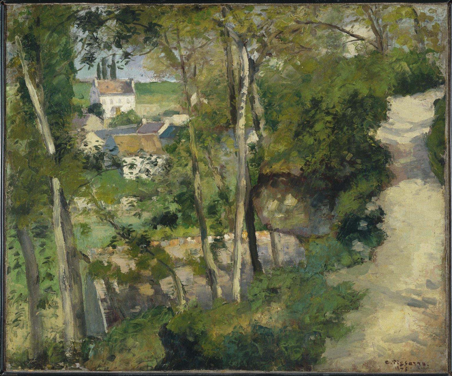Pissarro_The Climbing Path, l'Hermitage, Pontoise 1875 2