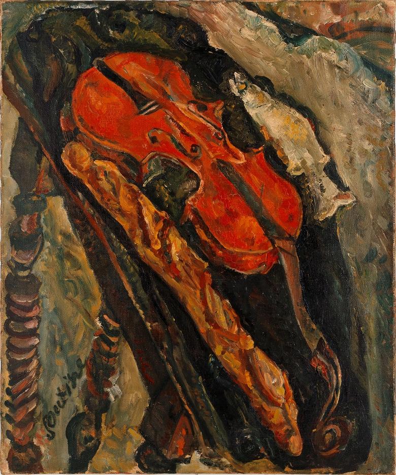 Soutine_violin_bread_fish_1922a