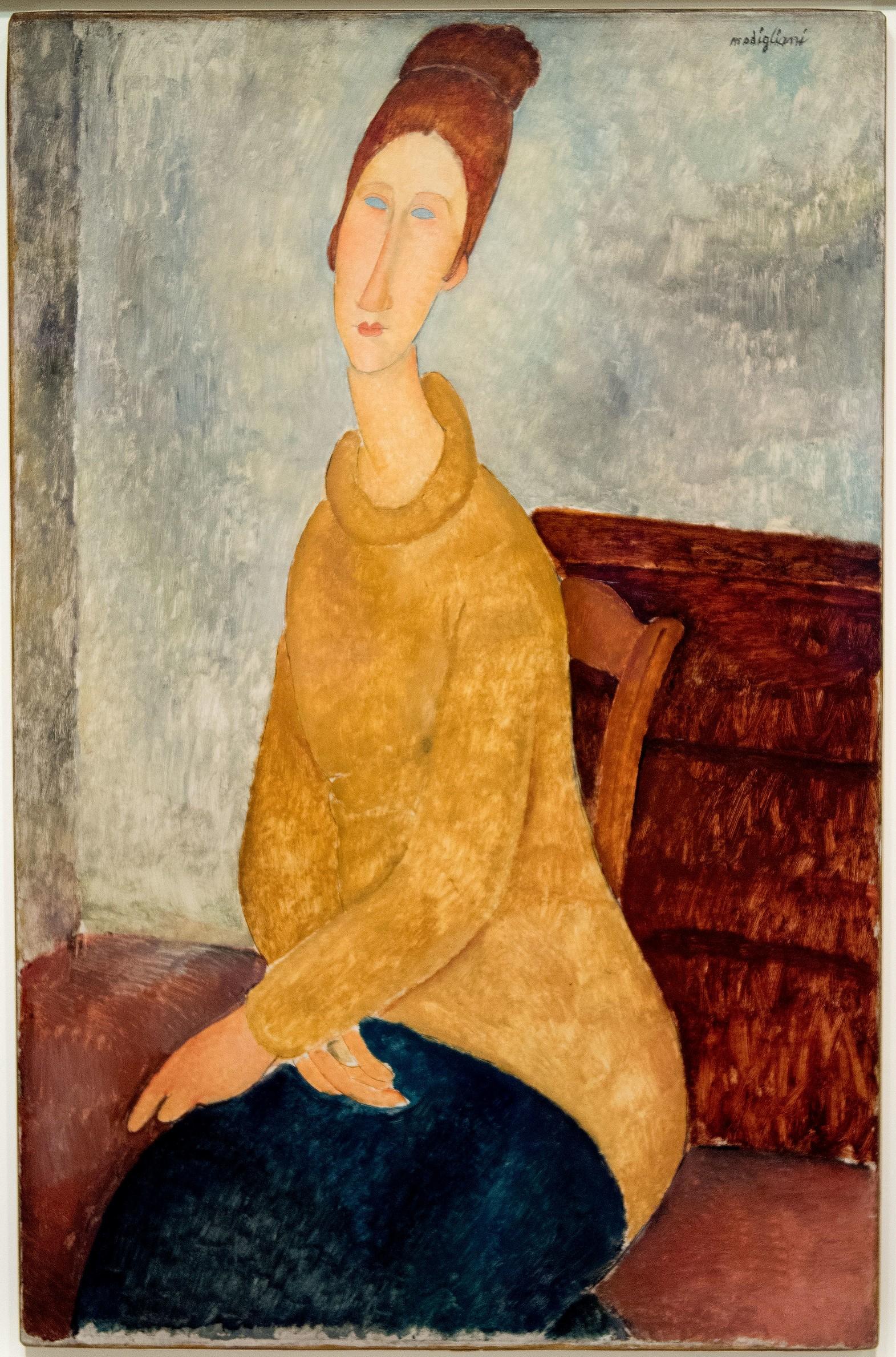 10 портретов Жанны Эбютерн Jeanne9_1918_1919_guggenheim