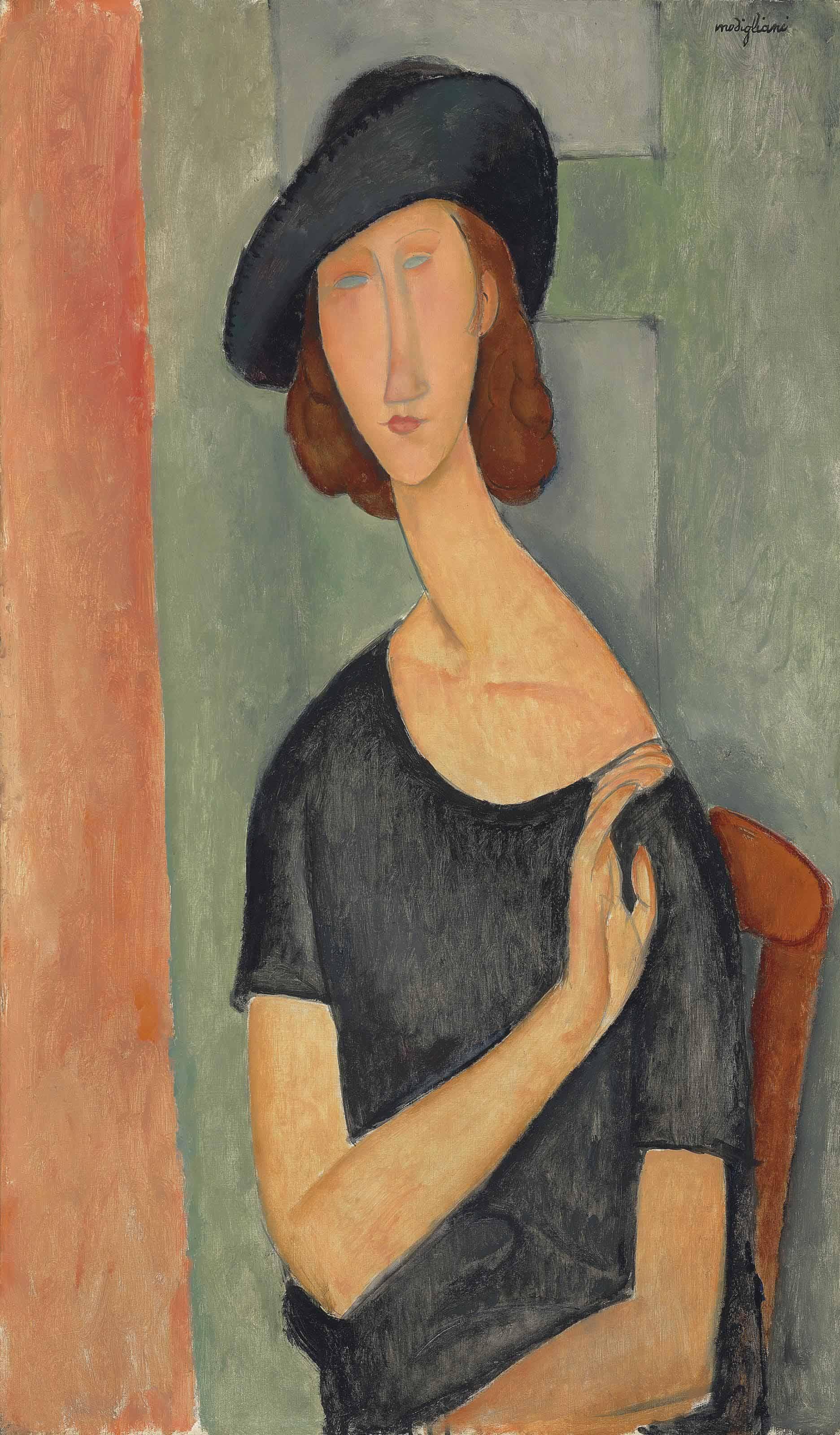10 портретов Жанны Эбютерн Jeanne6_1919_christies