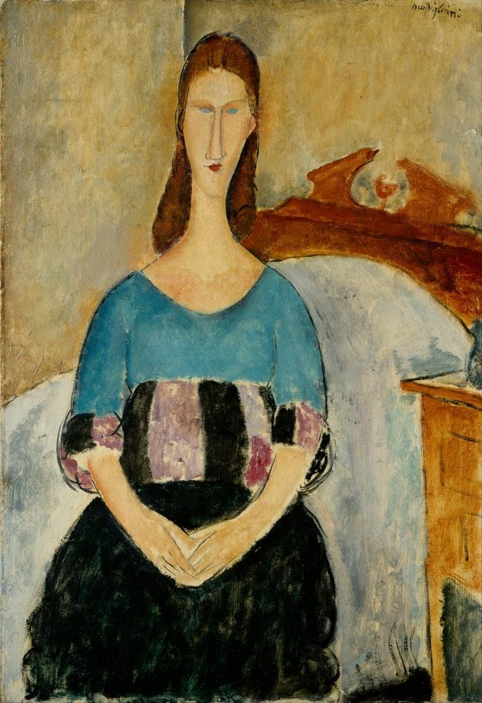10 портретов Жанны Эбютерн Jeanne1_1918_israel_museum1