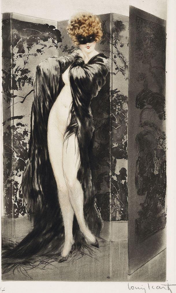 louis icart VENETIAN SHAWL 1921