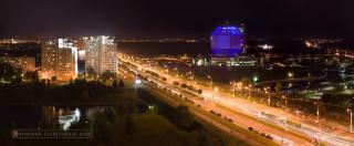 панорама Минска в время празднования дня Независимости Беларуси 2007г.