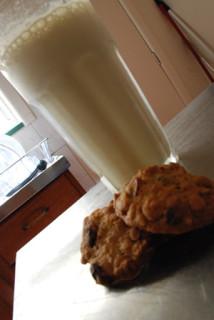 banana milkshake & crannie cookies