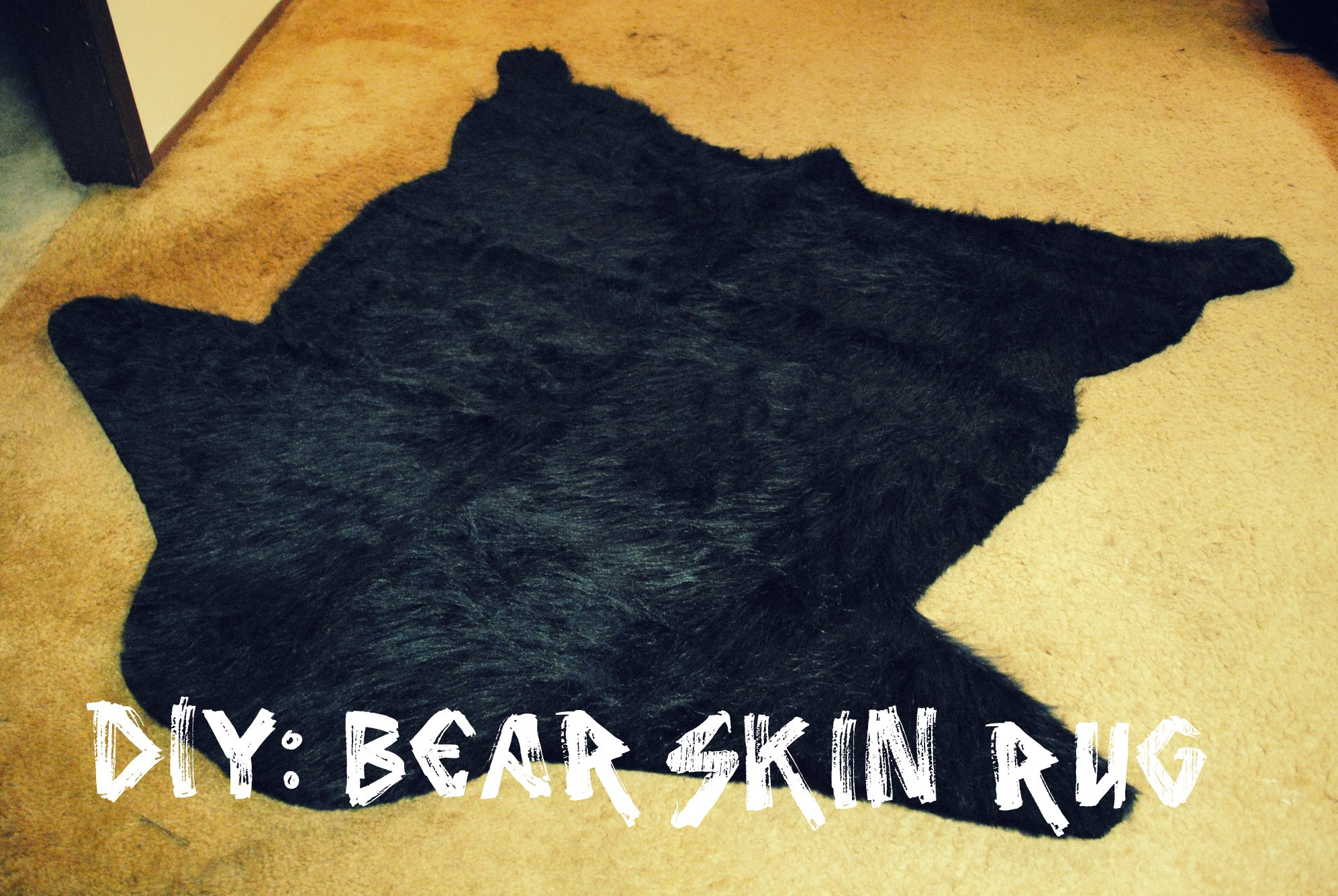 skin grizzly bear cm rug p foot inch