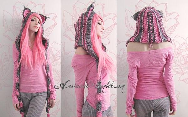 Шапоушка розово-серая