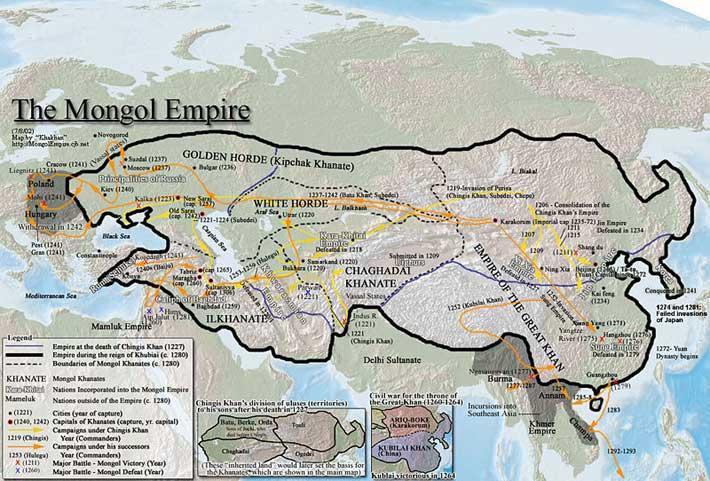 Про Монгольскую империю - самую крупную империю за всю историю человечества..