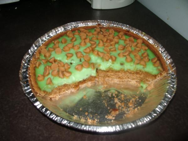 Pumpkin Pistachio Pudding Peanutbutter Pie