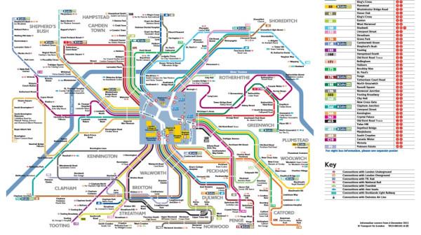 Spider map