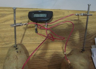 [Potato clock says the science fair is half over]
