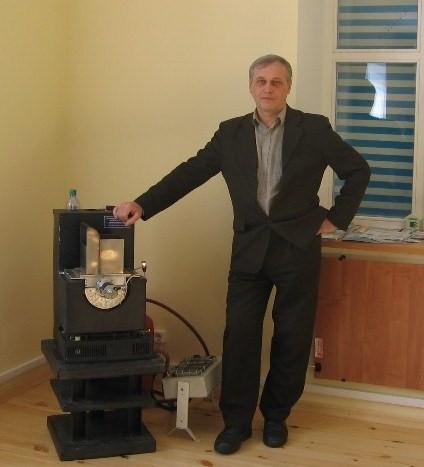 Ю.Н.Лапин с эксперементальной минитэц