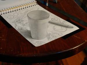 3D cup art