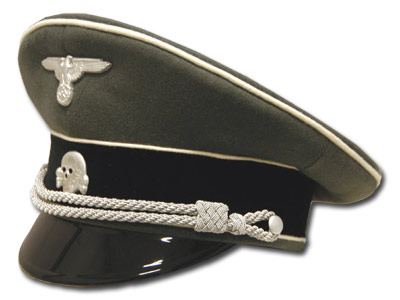 auMkwaffen-ss-infantry-officer-visor-cap-white-piped pcture