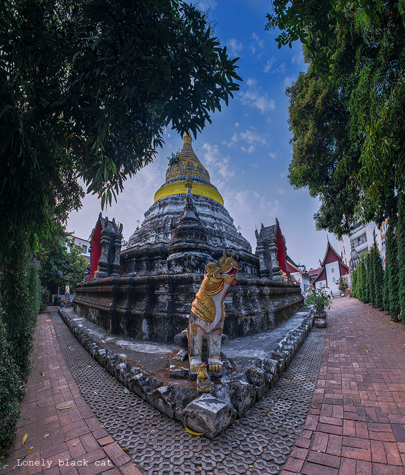 Thailand temple photography by lonelyblackcat