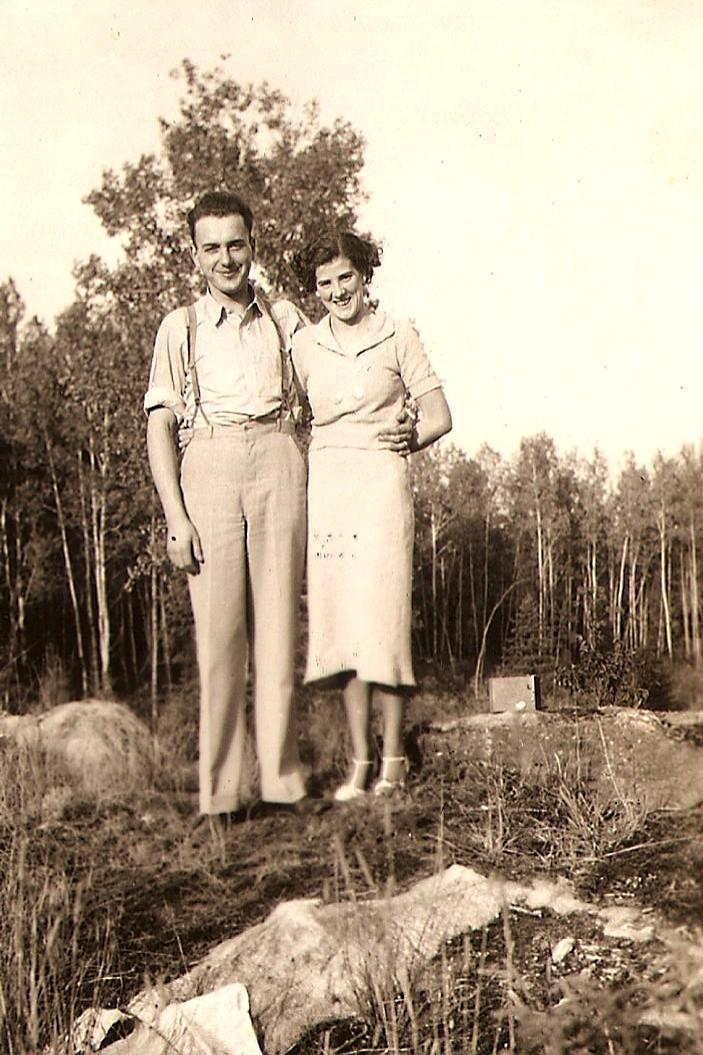 1936 Peter Browne  & Grace (Cochrane) Browne, Markstay, Ontario. On their honeymoon (2)