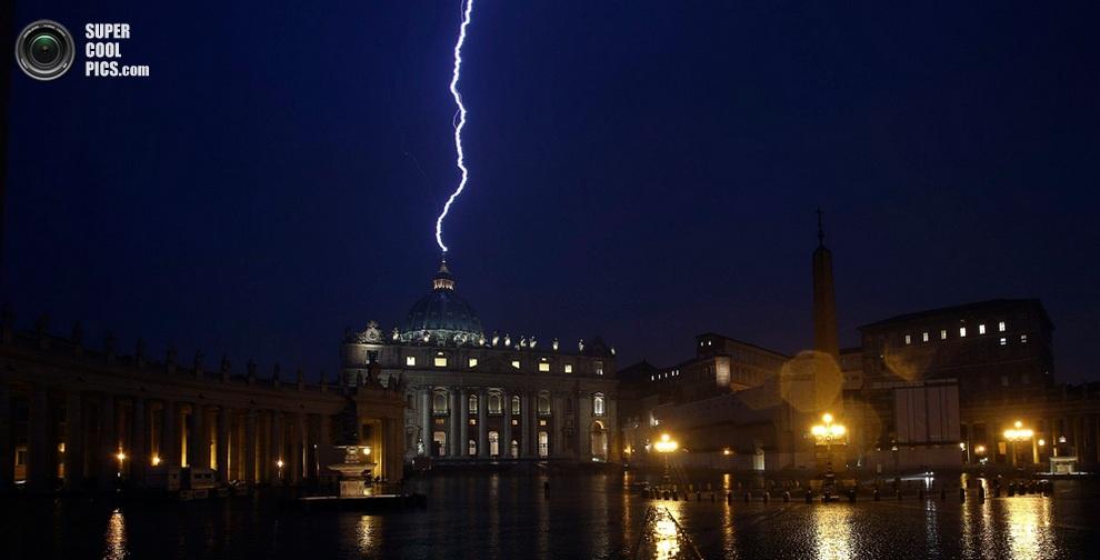 молния папы