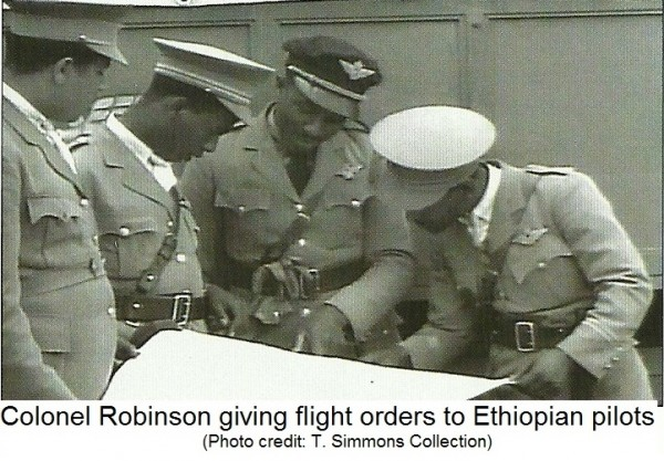 Robinson giving flight orders