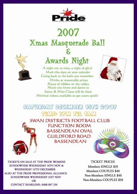 2007 Xmas Masquerade Ball & Awards Night