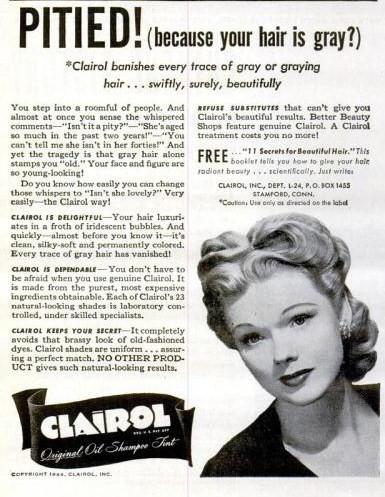 life feb 21 1944 clairol hair dye