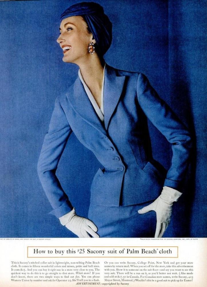 LIFE Mar 21, 1955 sacony suit