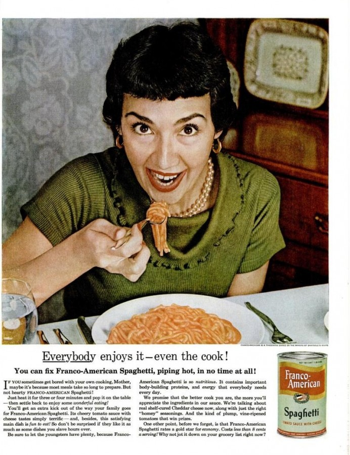 LIFE May 16, 1955 franco-american spaghetti regrettable