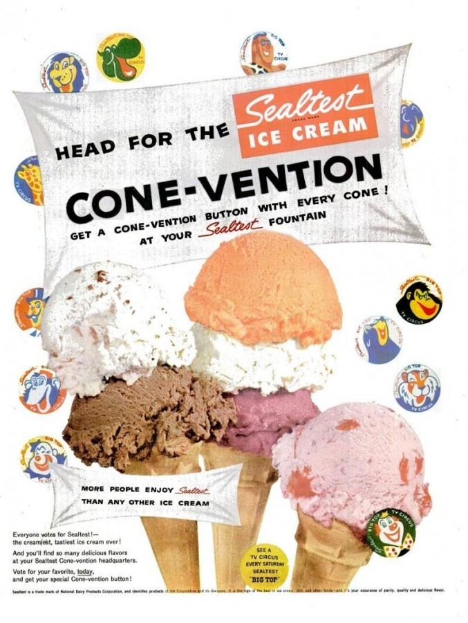 Well-liked Cake & Ice Cream Weekend Event: Sealtest Ice Cream, 1950s and  JD67