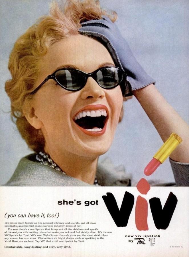 Viv Lipstick Toni LIFE Mar 7, 1955