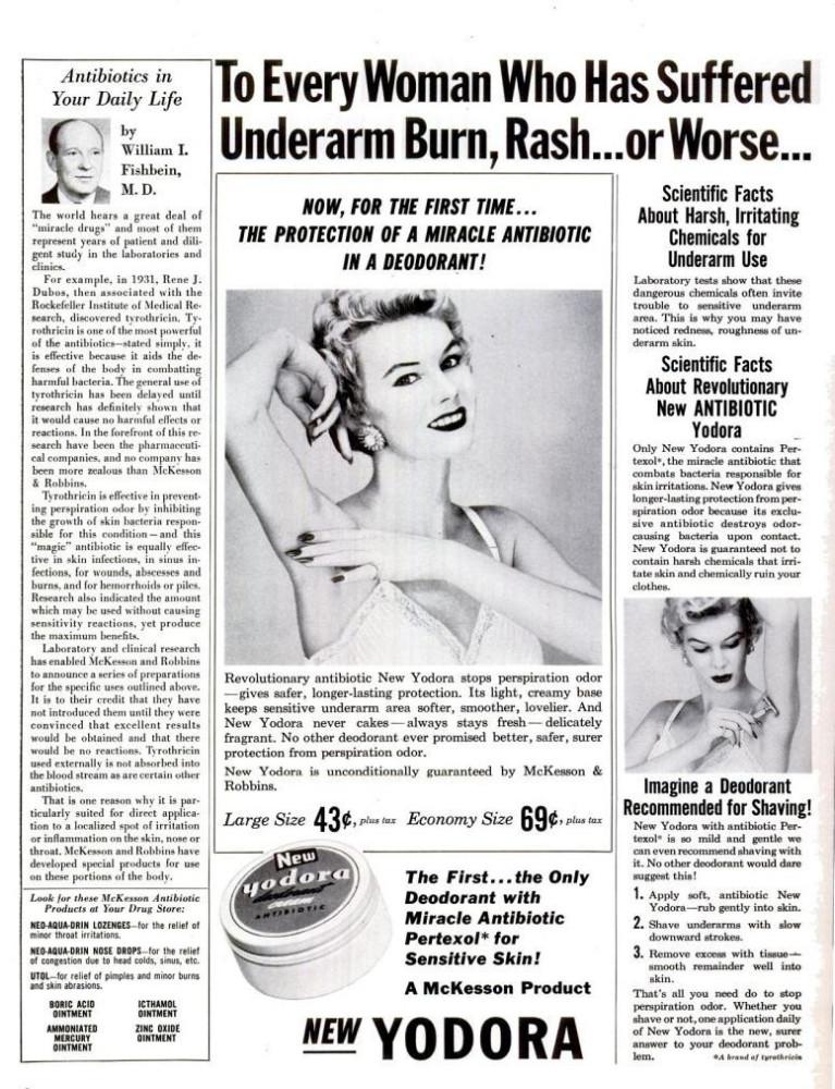 LIFE Mar 28, 1955 ydora antibiotic deodorant
