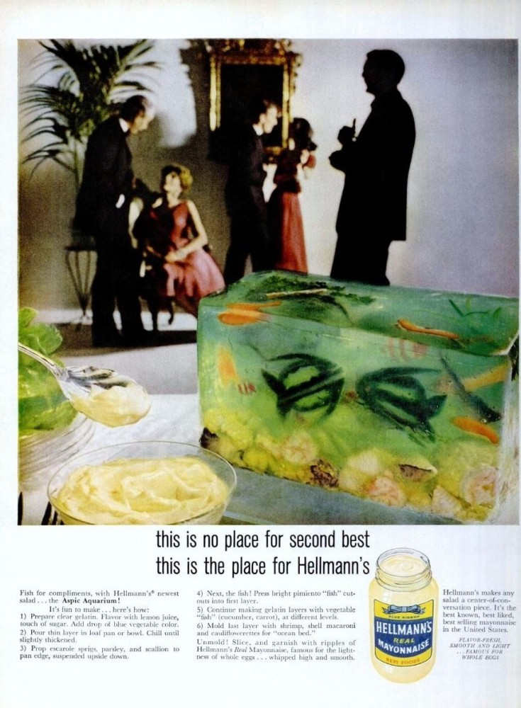 Condiments Contest Entry Hellman S Aspic Aquarium Salad