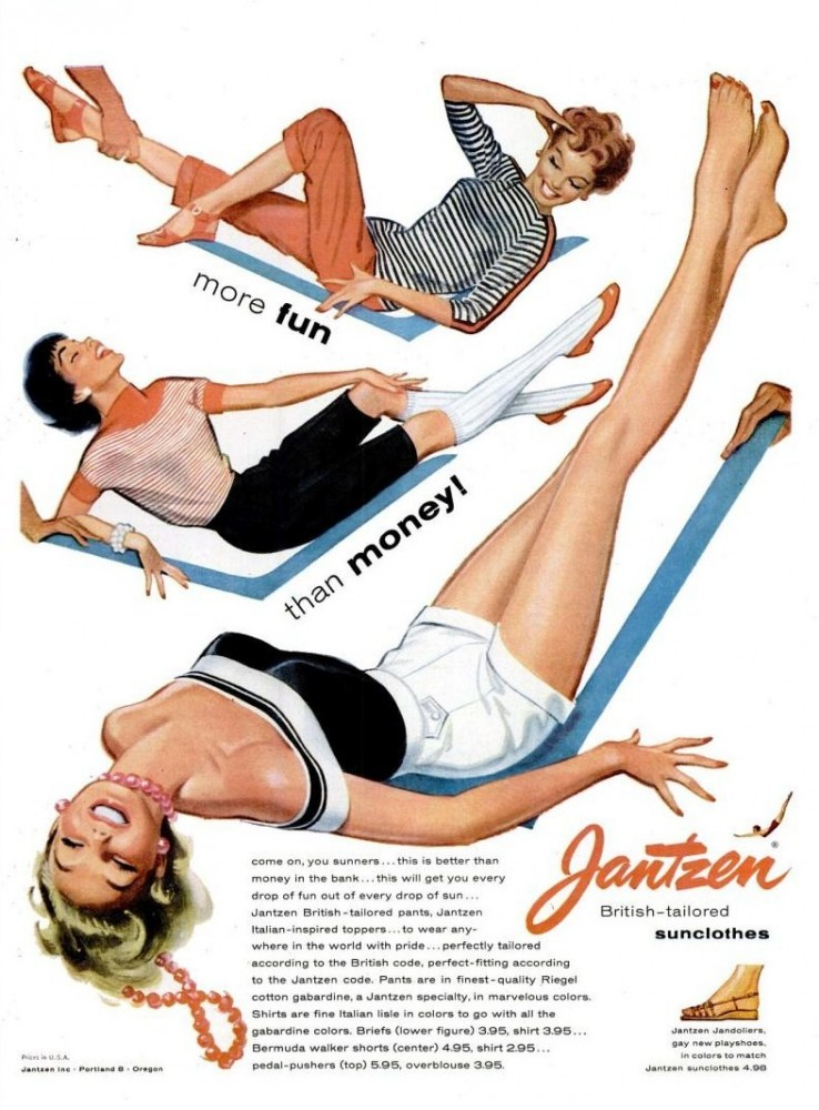LIFE May 9, 1955 jantzen sunclothes swimsuits summer