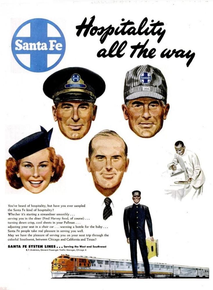 LIFE Apr 11, 1949 santa fe rail system lines train travel racism
